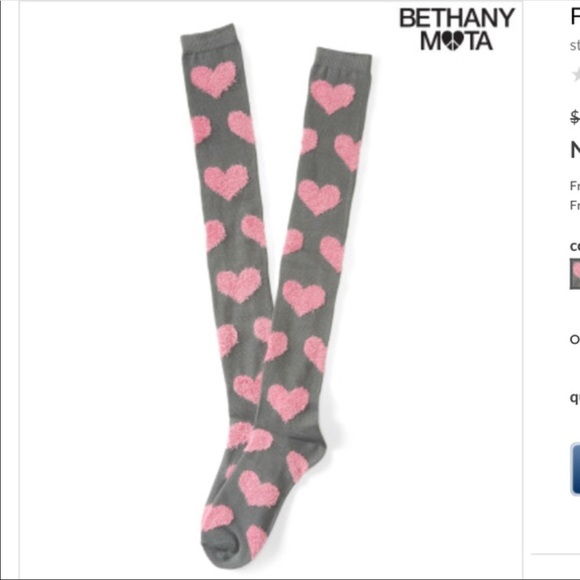 7816a7f9e10 New Aeropostale Fuzzy Heart Over the Knee Socks 💗